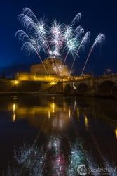 16 La Girandola di Castel Sant'Angelo_Dzień Św. Piotra i Pawła patronów Rzymu_czerwiec 2014