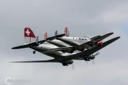 DC 3 Swissair i BE 18 4242